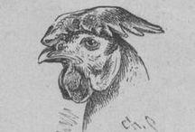 Poules / Qui dit Pâques, dit... Poule ! Voici une sélection des plus jolies poules (et quelques coqs) issues de Basse-cour, faisanderie et volière : l'élevage à la Croix-verte, Autun, par Et. Lagrange,... Nouvelle édition. 1892. (http://gallica.bnf.fr/ark:/12148/bpt6k146110f)