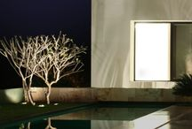 Light in pool and garden