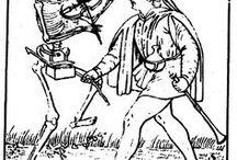 Happy Halloween ! / Danse des morts, danse macabre et autre tête de mort issues de l'ouvrage de Gabriel Peignot, Recherches historiques et littéraires sur les danses des morts et sur l'origine des cartes à jouer. A consulter ici : http://gallica.bnf.fr/ark:/12148/bpt6k5817536q/