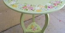 Stenciles, Painting, Decoupage on Furniture