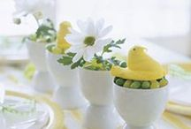 Easter Inspiration / Inspiration for Easter decorating, table settings, floral arrangements, and of course chocolate and eggs!