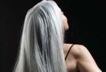 Grey Hair Styles / My hair is tricolored: silver, grey, and dark brownish. Its more silver when I get a lot of sun, and I really like it then. Other times, it is more mousy. I stopped coloring it when I moved to Florida where the sun would turn my brown hair blond, and as I started to accept my age and liking silver hair.
