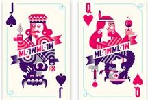 Playing cards design / Cards games and tarot cards. Illustration and design inspiration