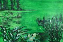 maalauksia 2014 / akryylimaalauksia kankaalle