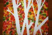 knutselen met kinderen thema herfst / Allerlei knutselideeën voor kinderen. Met het thema herfst.