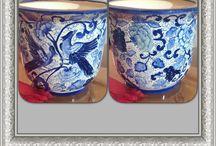 Blue and white / Pinturas em azul