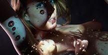Body Light Projection / le corps comme écran
