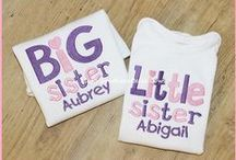 LSBB: Sibling Sets / Sibling Shirts, New Baby Announcement, Personalized T-Shirts for Siblings