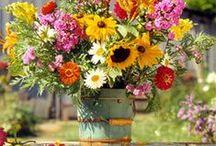 FLOwers-CANdles (Centerpieces)  / Flores, velas (arreglos) / by Patricia Herbas Herbas