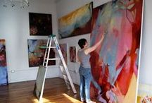 Art~Studios & Offices / Where art and business meet. / by Laura Plyler @ TheQueenofBooks
