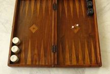 Vintage Backgammon Game Board / Vintage Backgammon Game Board