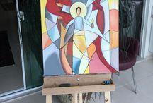 Minhas obras! Pintura acrílico sobre tela!