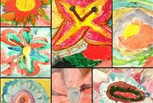 my elementary students' artwork / elementaty art projects and paintings