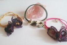 fabric flowers jewelry, accessories etc / κοσμήματα και αξεσουάρ κ.α. με υφάσματα