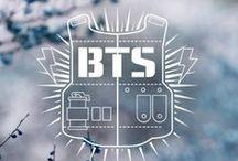 <3 Bangtan Boys <3 / KPOP group of seven handsome boys. J-Hope, Jimin, Jin, Rap Monster, Suga, Jungkook and V. <3 <3