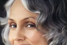 Silver fox / Natural silver and grey hair color on women