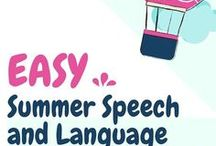 June Speech and Language Ideas / Speech and language therapy ideas for the month of June. Including crafts, materials, activities, and more!