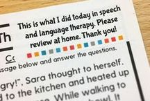 Carryover / Carryover ideas for speech therapy.