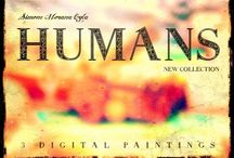 HUMANS (2014) / Collection of 3 DIGITAL PAINTINGS