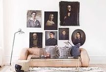 tableau, peinture, art + repérages / Un cadre ou plusieurs, un miroir, un mur peint ou des dessins d'enfants de quoi personnaliser un intérieur.