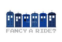 "Fancy a Ride? | DoctorWho 8Bit TARDIS | RedBubble / ""Fancy a Ride?"" by Nath-Gary"