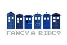 "Fancy a Ride? | DoctorWho 8Bit TARDIS | RedBubble / ""Fancy a Ride?"" by Nath-Gary"