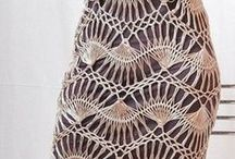 Crochet dresses, skirts and pants