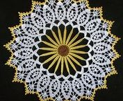 Crochet motifs and mandalas