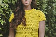 Crochet tops and tunics