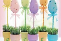 Easter event decorations / Dining st Easter  at LSC