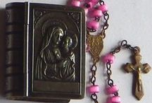 Rosaries & Cases / I've been collecting old Rosaries all my life.....