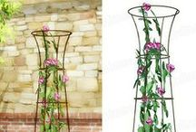 Plant supports and stakes / Our exclusive range of plant supports, spirals, stakes and  topiary frames.