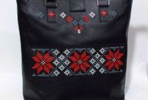 Etno / Handmade leather bags, with romanian motifs