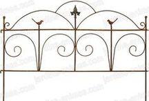 Metal garden borders / Classical and beautifully detailed steel garden borders