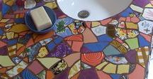 Mosaic Pique Assiette / I Love, Love, Love all kinds of Mosaics..all materials are game..