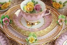 Old China & Tea Love / My favorite china is made by Reinhold Schlegelmilch...I Love how his hand painted colors look like they were done with an airbrush...just amazingly Gorgeous...takes my breath away just looking..