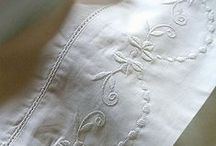 Lovely Linens / I couldn't say enough about old linens that would express my love for them..