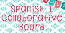 Spanish I Collaborative Board / This is a collaborative board for all of your ideas for topics that are usually taught in beginner's Spanish I such as present tense verbs, small talk, date, time, clothing, weather, etc.  *Please only pin Spanish I - related resources. You may pin your TpT products, blog posts, etc., but please do not pin the same product or post more than once.*