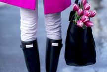 Rain boots and clothes