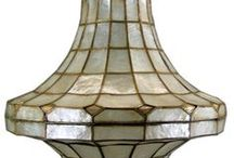 Capiz Shell Beauty / Love, Love, Love the sound they make. My Kitchen ceiling fixture is Capiz