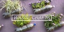 DIY Waste Material Crafts / Beautiful crafts made out of waste material. For #waste #free #living!