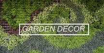 Outdoor Decor Ideas / All of our favorite ideas for designing and decorating your garden, terrace or patio. DIY decorations, upcycled objects and garden design ideas!