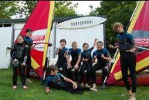 Windsurfen lessens / Windsurfen Noord Aa plas in Zoetermeer