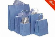 Paper Bags / A wide selection of paper bags in different sizes and colours.
