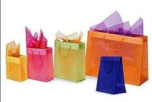 Plastic Bags / A wide selection of plastic bags in different sizes and colours.