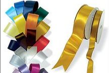 Ribbon / Ribbons add the perfect finish touch to any products. From woven to paper and satin to organza the choices are endless!