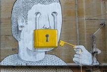 Street Sokak Demektir / Around the world, street art, political satire. Outdoor art means indoor confidence.
