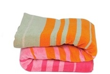 Bath & Beach Stripes / Decorate your bathroom with stripes, wrap up in a luxe striped beach towel, and more