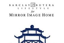 "Barclay Butera for Mirror Image Home / ""Mirrors are like jewelry for the room, they add instant sparkle and glam to any space.  Fortunately for me, Mirror Image Home has a wide range of manufacturing capabilities which allows me to create a myriad of styles that go seamlessly with my diverse lifestyle designs.  We have slick city metals, rustic distressed wood, sophisticated lacquers, and a complete range of both feminine and masculine influences.  This has been a wonderful creative collaboration!"" -Barclay Butera"