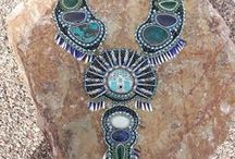 More Beaded Inspiration / Jewelry made with beads, metal clay, polymer clay, found materials, precious stones etc..